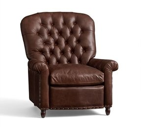 Radcliffe paris tufted leather recliner
