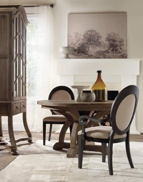 Round dining room sets with leaf 17