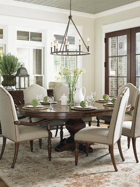 Round dining room sets with leaf 3