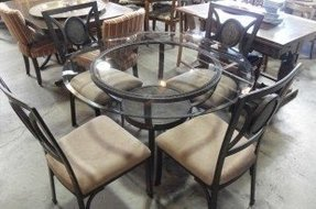 Round glass top dining sets 27