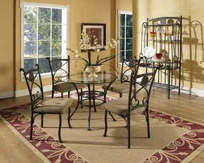 Round glass top dining sets