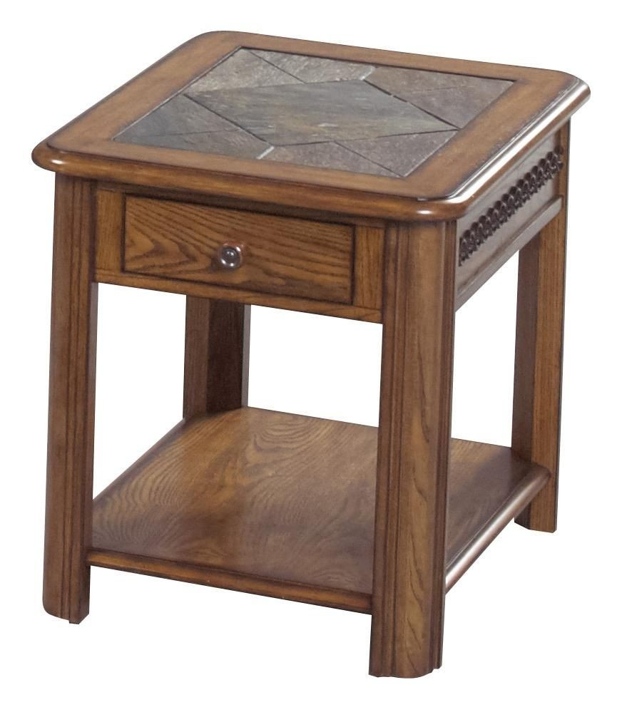 Bon Slate Top End Tables 2