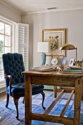 Farmhouse Office Chair No Wheels