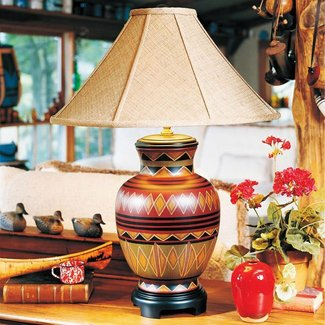 Southwestern table lamp 11