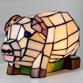 Stained glass accent lamp 2