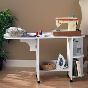 White sewing table