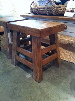 Wood rustic bar stools 3
