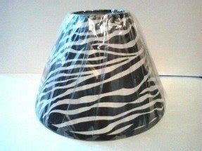 Zebra animal print black amp white fabric lamp shade for