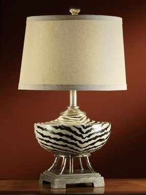 Zebra lamp shade table lamps