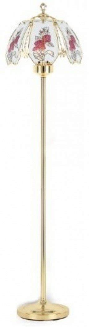 61''H NEW Glass Pink Rose Camelia Touch Floor Lamp comes with Gold Finish Base