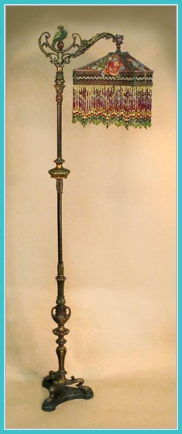 Creative Brass Antique victorian? Lamp Finial Large Filigree Good Taste