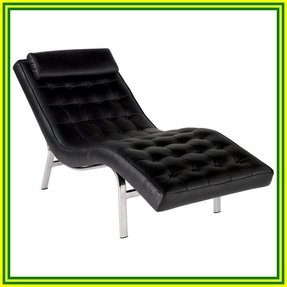 Black leather chaise lounge 24