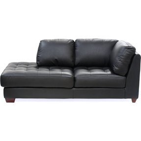 Black Leather Chaise Lounge 3