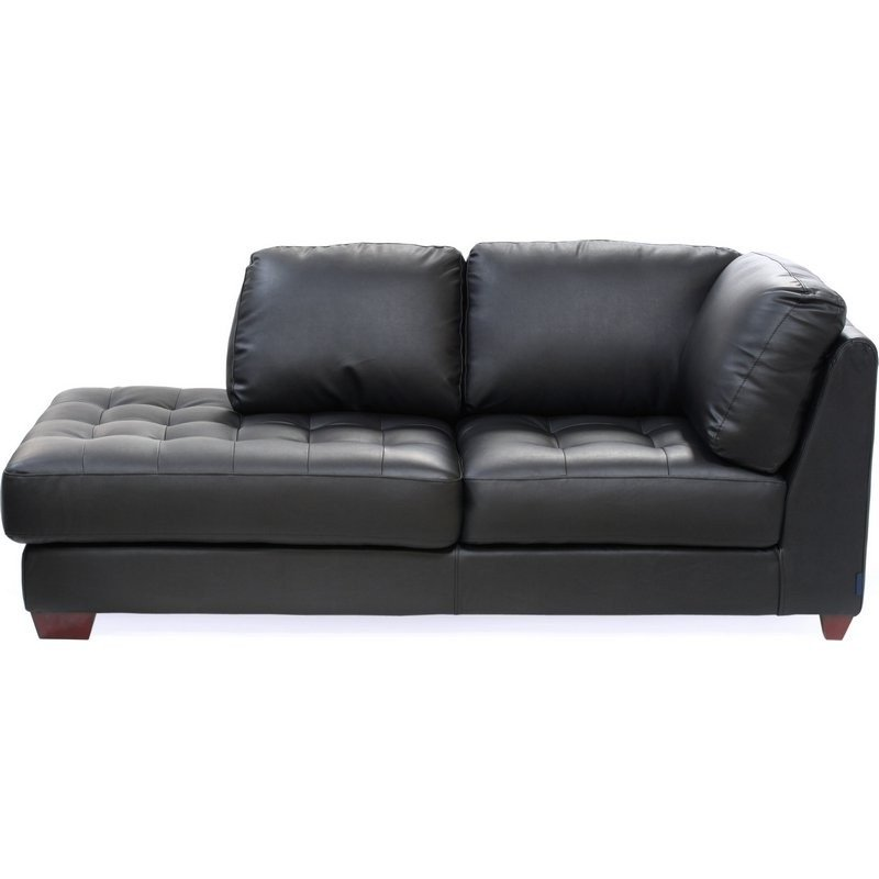 Beau Black Leather Chaise Lounge 3