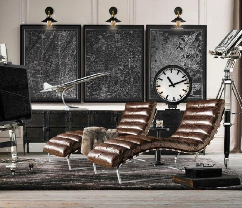 Delicieux Black Leather Chaise