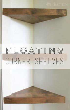 Natural Wood Floating Shelves Foter Cool Floating Corner Shelves With Lights
