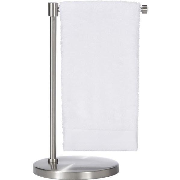 Bath Countertop Pedestal Towel Ring Polished CHROME Hand Fingertip Free Standing