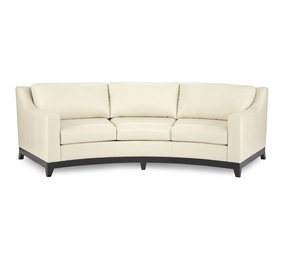 Curved leather sofa 5