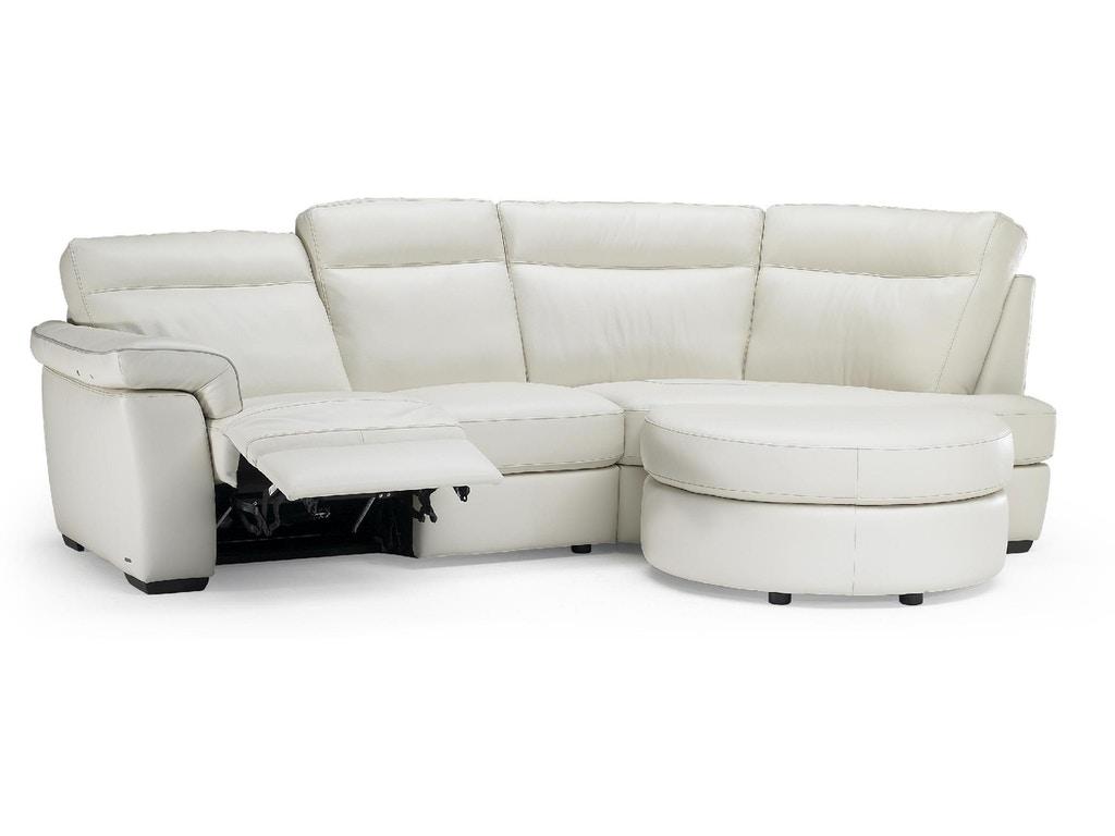 Natuzzi Editions Millan Curved Leather Sofa