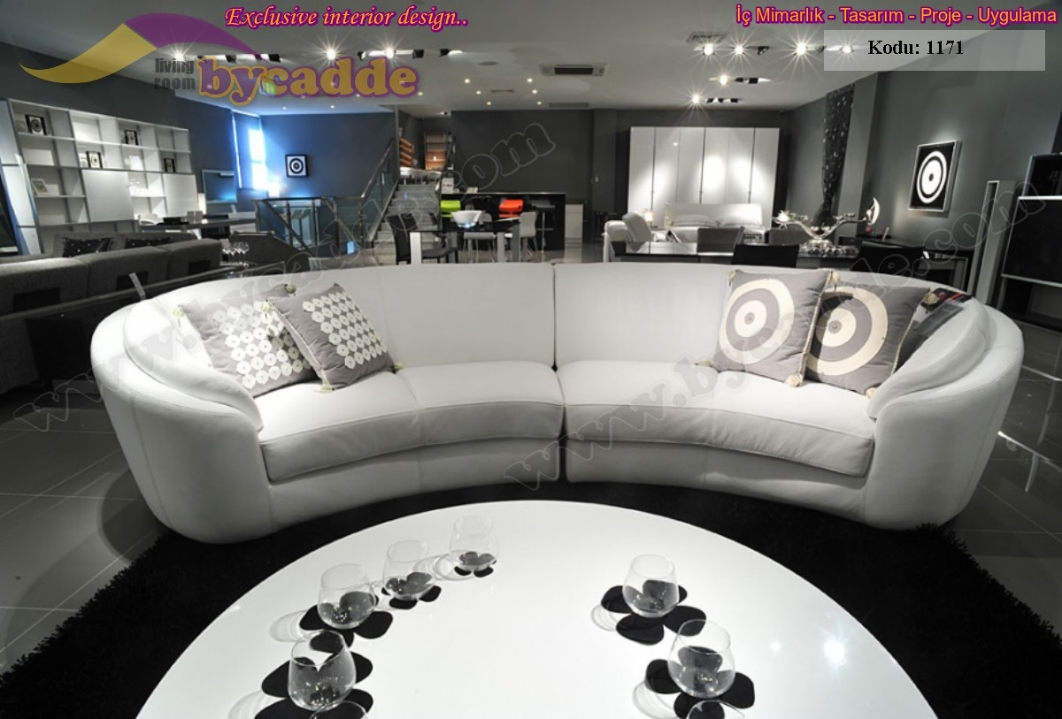 Curved leather sofas 5