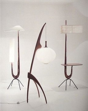 Danish modern floor lamp