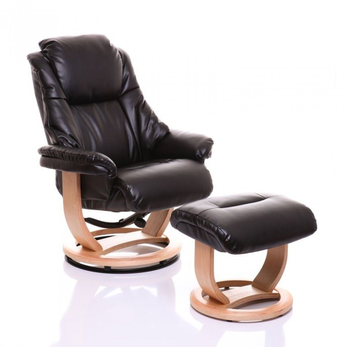 Leather Recliner Chair With Ottoman 5