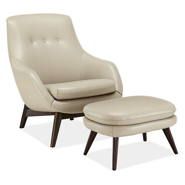 Leather Recliner Chair With Ottoman 7