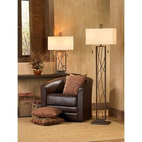 Lodge rustic floor lamp foter lodge floor lamp 1 mozeypictures Choice Image