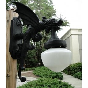 Outdoor Wall Light Sconce Fixture antique styl GARGOYLE DRAGON wings vintage