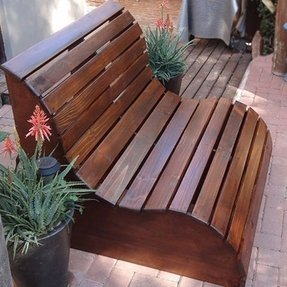 Outdoor wooden benches 1