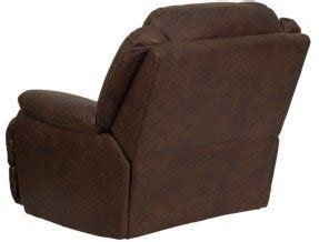 Oversized and overstuffed brown microfiber furniture rocker recliner