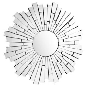 Round sunburst mirror 24