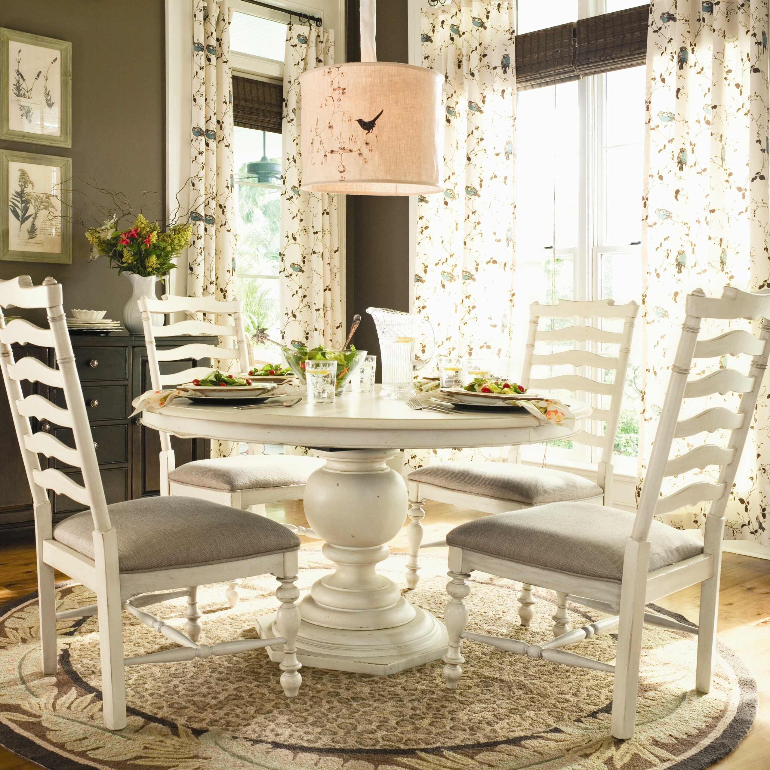 Round White Pedestal Dining Table 2