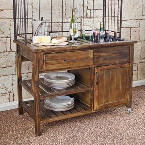 Rustic kitchen cart 30