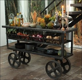 Rustic kitchen cart 4