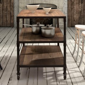 Rustic kitchen cart 9