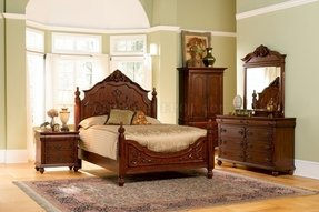 Low profile queen bed frame foter for Short four poster bed