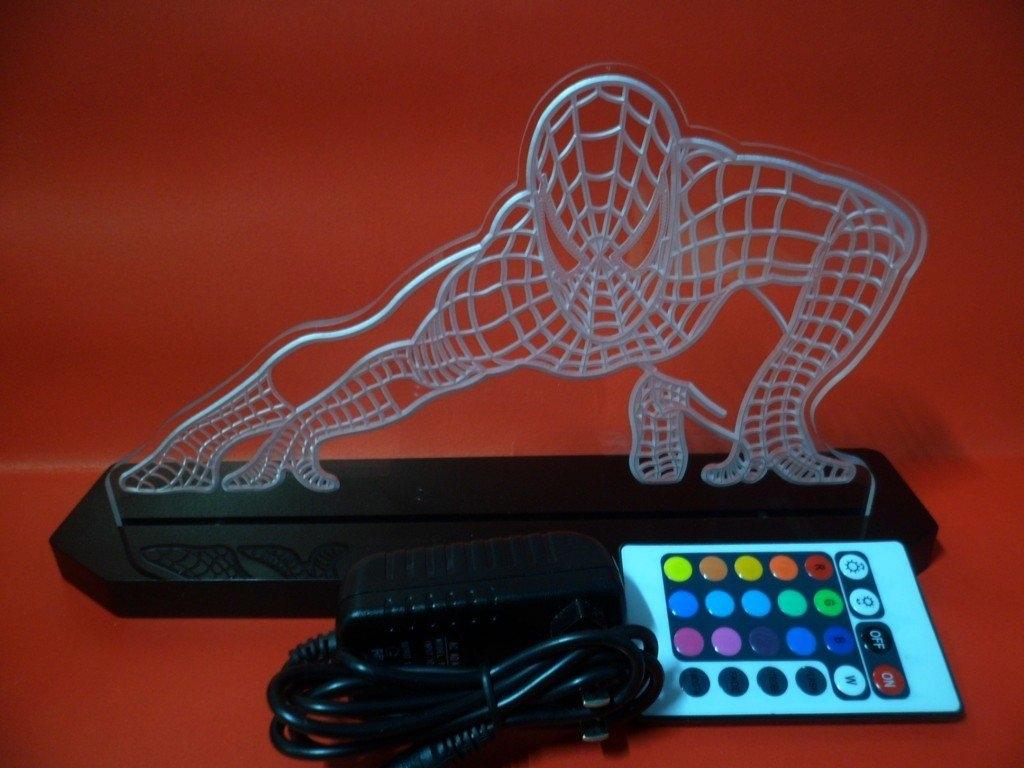 Spiderman Super Hero LED Table Lamp Night Light Kids Room Game Room