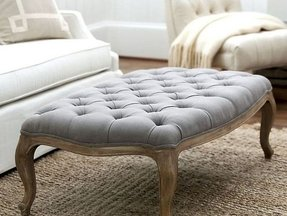 Tufted upholstered ottoman coffee table 1
