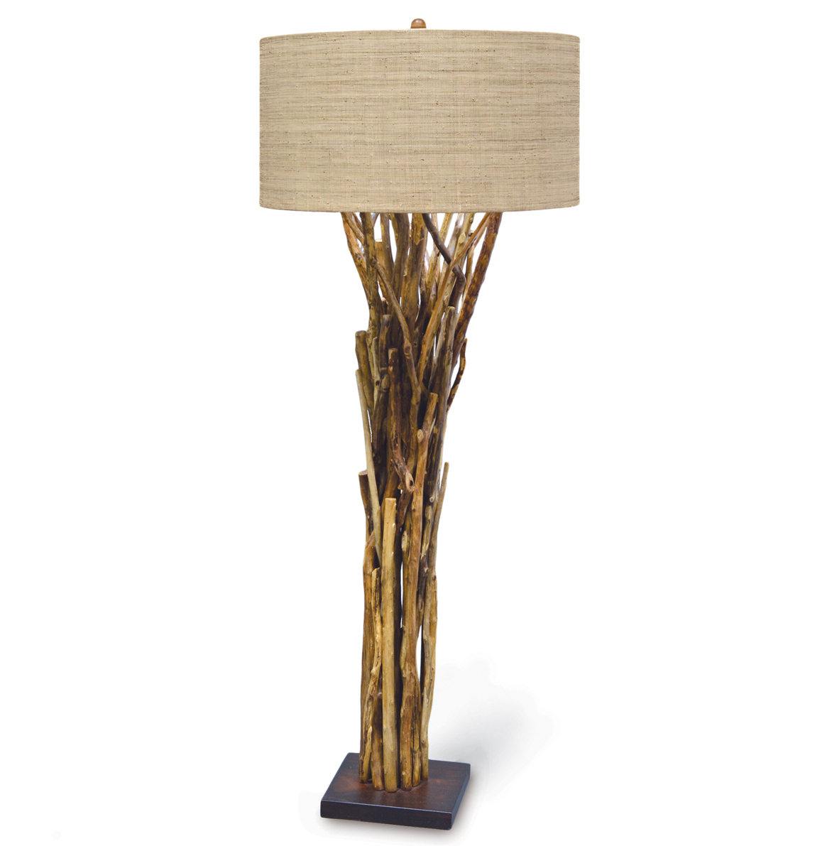 Superbe Umber Rustic Lodge Bundled Branches Floor Lamp S Transitional Floor