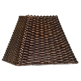 Wicker light brown lamp shades 1