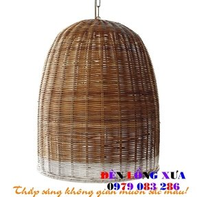 Wicker light brown lamp shades