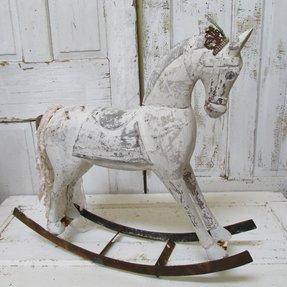 1984 Wood Carved Rocking Horse