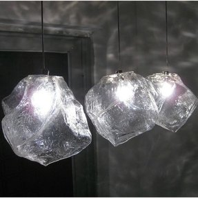 3 lights modern ice cube rock light pendant lamp ceiling