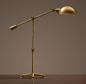 Antique brass pharmacy desk lamp 1