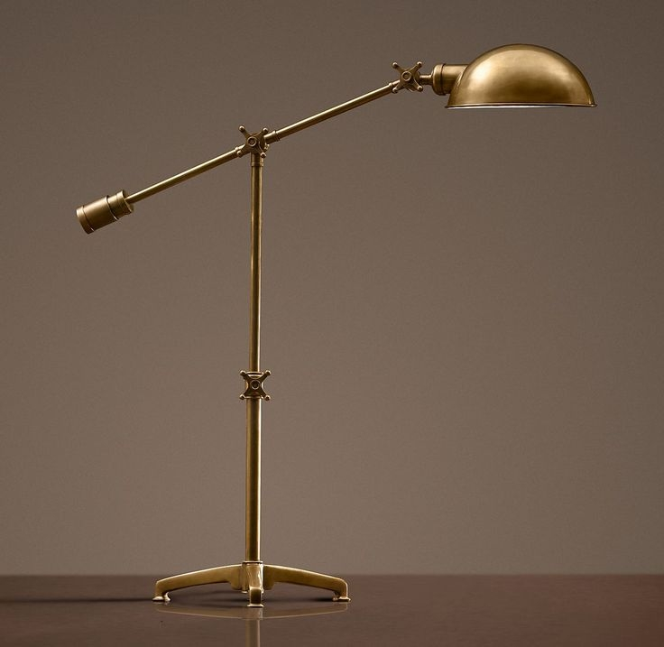 Gentil Antique Brass Pharmacy Desk Lamp 1