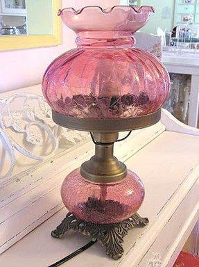 Pink Glass Lamp Foter