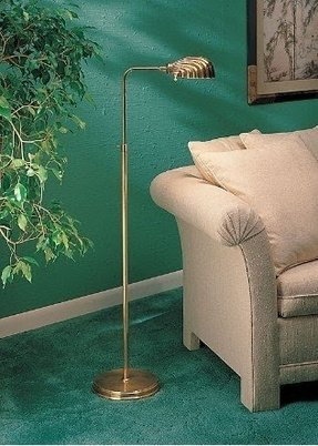 Brass adjustable pharmacy floor lamp foter brass adjustable pharmacy floor lamp aloadofball Image collections