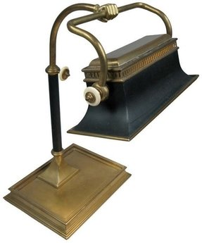 Brass hand library desk lamp chapman 1