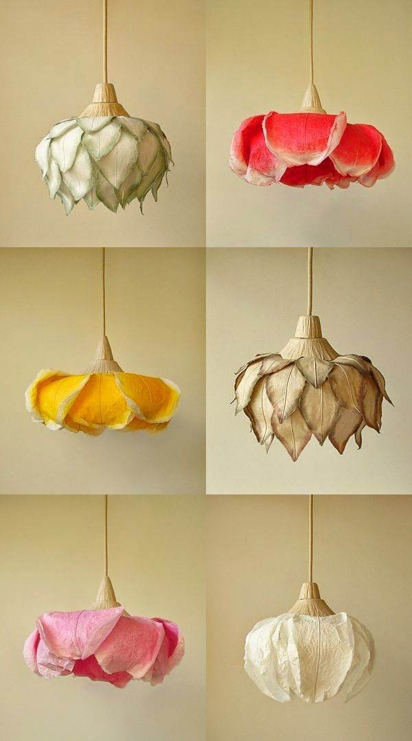 Flower pendant lamps by lighting artist sachie muramatsu the lanterns